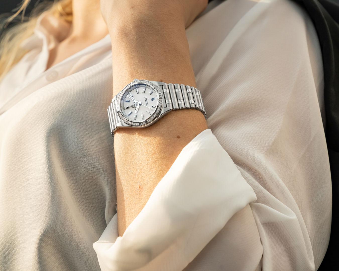 Breitling Chronomat Automatic 36 Diamonds with White Dial