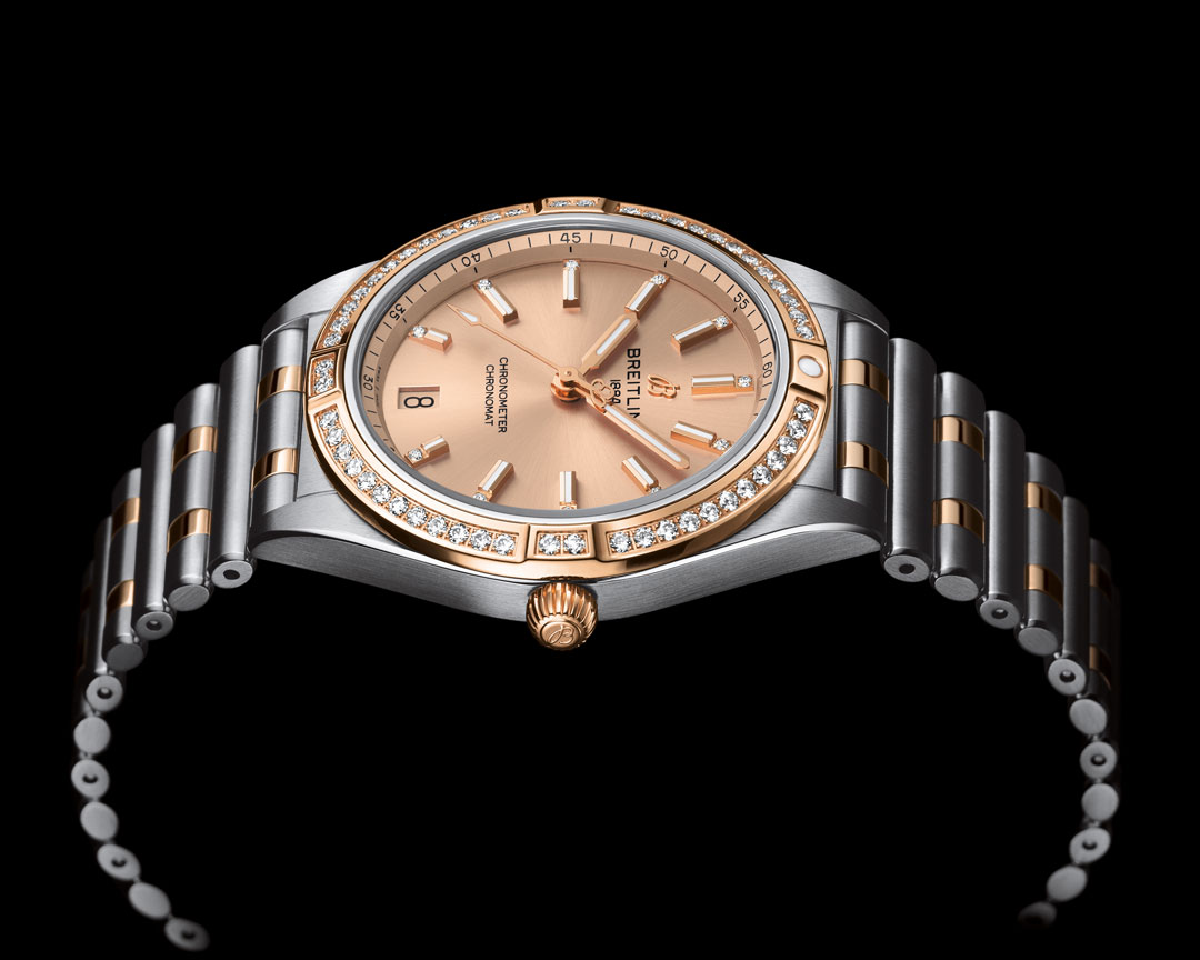 Breitling Chronomat Automatic 36 Diamonds Gold and Steel